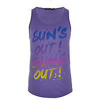 Purple Friend or Faux sun's out print vest
