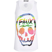 White Friend or Faux skull print vest