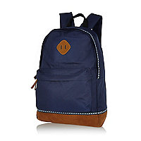 Navy aztec trim backpack