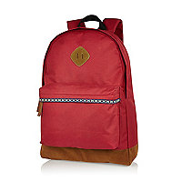 Red aztec trim backpack