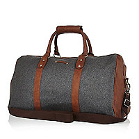 Dark grey melton holdall