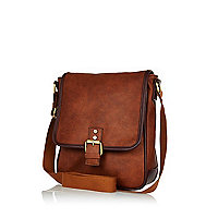 Tan small messenger bag