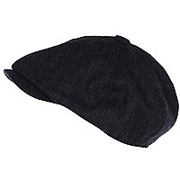 Dark grey baker boy hat