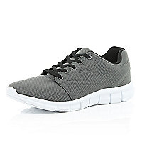 Grey mesh trainers