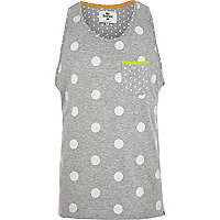 Grey Bellfield mixed polka dot vest