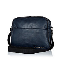 Navy Dunlop perforated flight bag