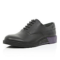 Black Anthony Miles chunky lace up shoes
