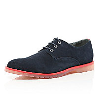 Navy Anthony Miles contrast sole shoes