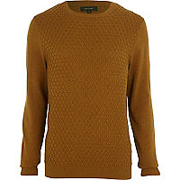 Dark mustard textured jumper