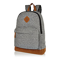 Light grey textured backpack