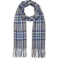 Light grey tartan scarf