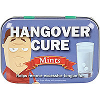 Novelty hangover cure mints