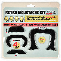 Retro moustache kit