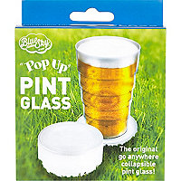 Pop-up pint glass