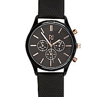 Black perforated watch