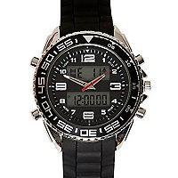 Black digital watch