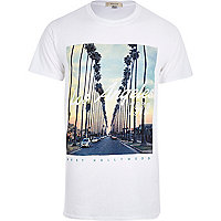 White Los Angeles 1979 print t-shirt