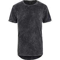Dark grey acid wash t-shirt