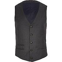 Dark grey waistcoat
