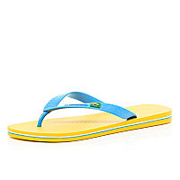 Yellow iPanema flip flops