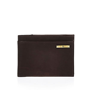 Dark brown RI plaque wallet