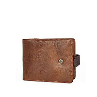 Tan RI popper wallet