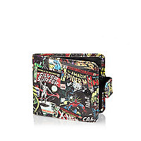 Black Marvel comics print wallet