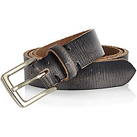Dark grey distressed belt