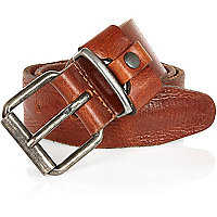 Tan chunky keeper belt