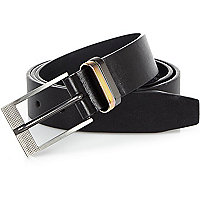 Black iridescent keeper belt
