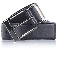 Black contrast keeper belt