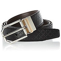 Black hexagonal buckle belt