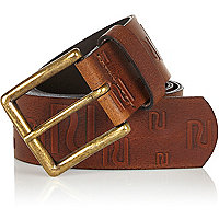 Brown RI embossed belt