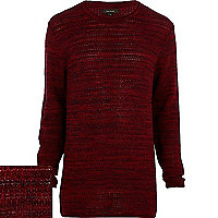 Dark red longer length jumper
