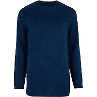 Dark blue fluffy jumper