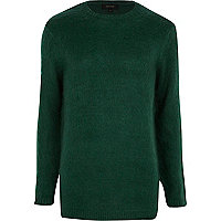 Dark green fluffy jumper