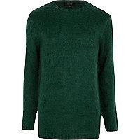 Dark green fluffy jumper