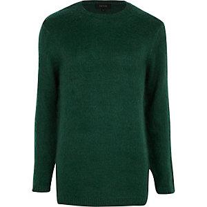 Dark green fluffy sweater