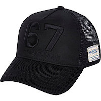 Black 67 trucker hat