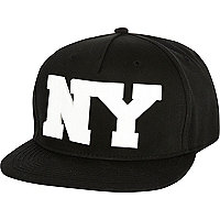 Black NY trucker hat