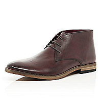 Dark red chukka boots
