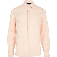 Pale peach long sleeve shirt