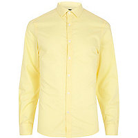 Pale yellow long sleeve shirt