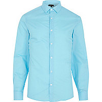 Aqua blue long sleeve shirt