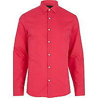 Bright pink long sleeve shirt