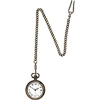 Gold tone antique-style pocket watch