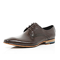 Dark brown high shine shoes