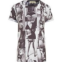 White photo print t-shirt