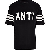 Black Antioch front print oversized t-shirt