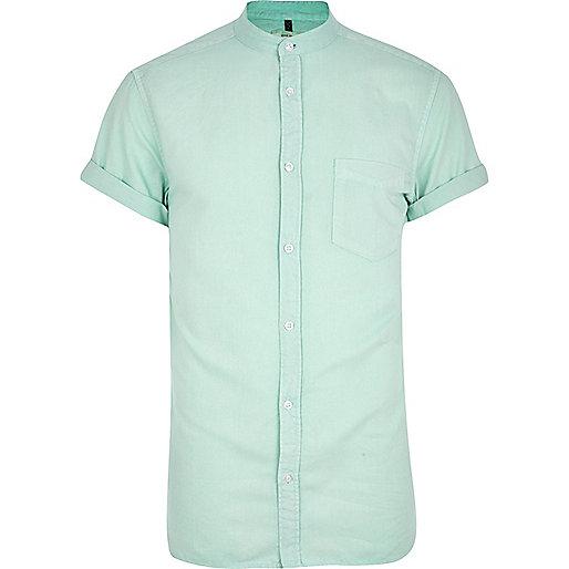 Turquoise grandad shirt